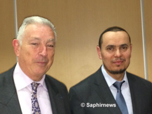 Michel Soussan (à g.), ancien inspecteur de l'Éducation nationale, et Makhlouf Mamèche, président de la Fédération nationale de l'enseignement privé musulman.