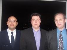 De gauche à droite, Boujema Hadri, Jérôme André et Armel Fresnay, les trois managers de la société VIT