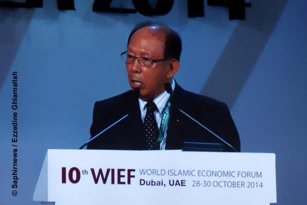 Tun Musa Hitam, président de la fondation WIEF, organisatrice du 10e Forum mondial de l'économie islamique.