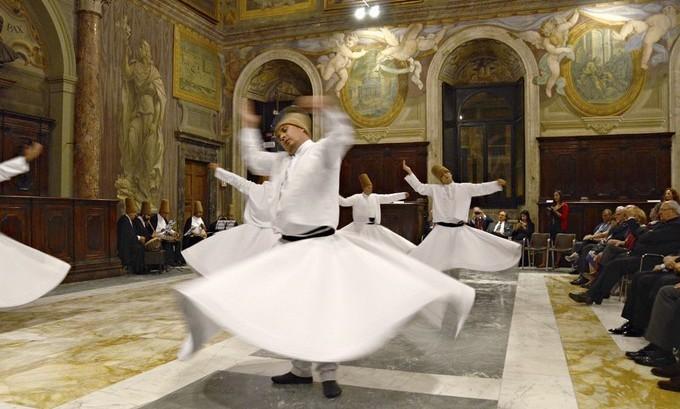 Sema au Palais de la Chancellerie du Vatican le 24 septembre 2014. © Nihal Aral