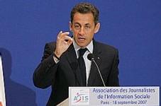 Nicolas Sarkozy, hier, au Sénat