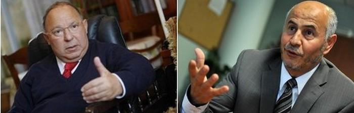 Dalil Boubakeur, recteur de la Grande Mosquée de Paris, et Amar Lasfar, président de l'UOIF.