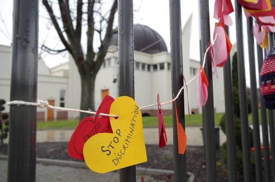 Des mosquées criblées de cœurs en solidarité avec les musulmans