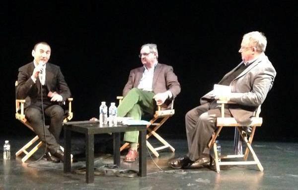 Omar Benlaala (La Barbe), Pierre Rosanvallon (Le Parlement des invisibles) et Olivier Roy (La Sainte ignorance), réunis à la Maison des Métallos, le 14 mars 2015.