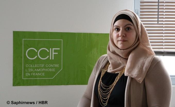 Elsa Ray, porte-parole du Collectif contre l'islamophobie en France (CCIF). © Saphirnews / HBR