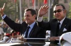 Nicolas Sarkozy et le roi Mohammed VI