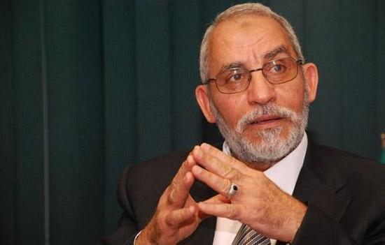 Mohamed Badie, guide des Frères musulmans, condamné à mort le 16 mars par la justice égyptienne.