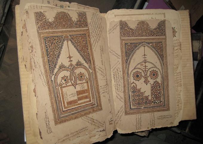 Manuscrit de la bibliothèque Mohammed Tahar, à Tombouctou (Mali).