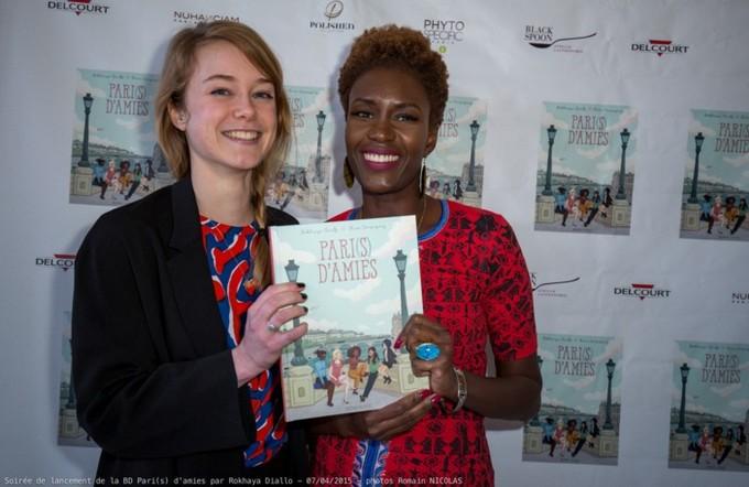 """Rokhaya Diallo, essayiste et militante féministe et antiraciste, a présenté le 7 avril sa BD """"Pari(s) d'amies"""" avec l'illustratrice Kim Consigny."""