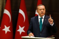 Recep Tayyip Erdogan, présidentv de la Turquie.