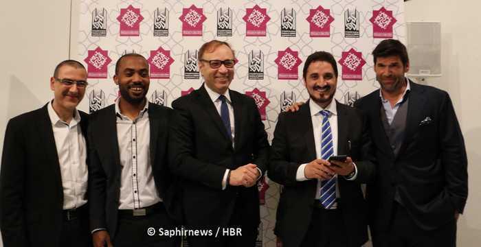 Les membres fondateurs de la fondation Al Kawakibi (de dr. à g.) : Félix Marquardt, Adnan Ibrahim, Ghaleb Bencheikh, Mohamed Bajrafil et Omero Marongiu-Perria.