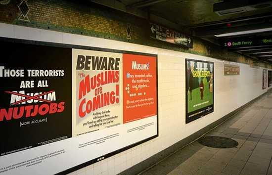 New York : des affiches comiques contre l'islamophobie dans le métro