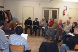 Lors de la SERIC 2002 : une rencontre à Montreuil