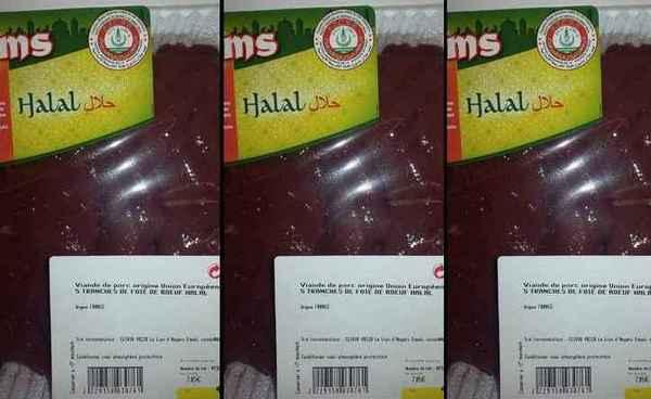 La mention « viande de porc » sur une barquette de foie de bœuf halal a scandalisé fin mai des consommateurs.