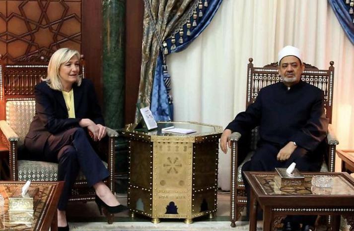 La rencontre du FN avec l'imam d'Al Azhar, vue par Marine le Pen