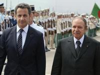 Nicolas Sarkozy et Abdelaziz Bouteflika à Alger le 10 juillet dernier