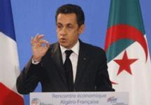 Nicolas Sarkozy devant des chefs d'entreprises algériens et français