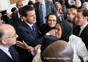 Parmi les femmes invitées, Latifa Ibn Ziaten, présidente d'Imad-ibn-Ziaten pour la jeunesse et pour la paix, une association qu'elle a créée après le meurtre de son fils, en vue d'aider les jeunes des quartiers et de promouvoir la laïcité et l'interreligieux. © Saphirnews