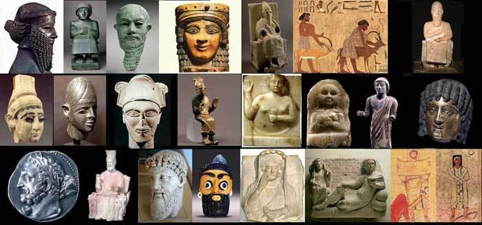 Différentes représentations de Sémites à travers l'art.
