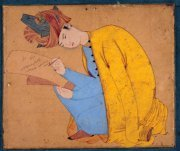 Shâh Abû al-Ma'âlî, signé par Maître Dûst Masavvir, gouache sur papier, Inde, vers 1556.