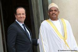 François Hollande avec le président de l'Union des Comores en France en 2013.