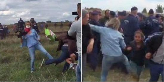 Réfugiés frappés : une journaliste au service de la haine (vidéo)