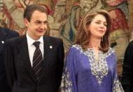 Le Premier ministre espagnol M. Zapatero et la reine Noor de Jordanie