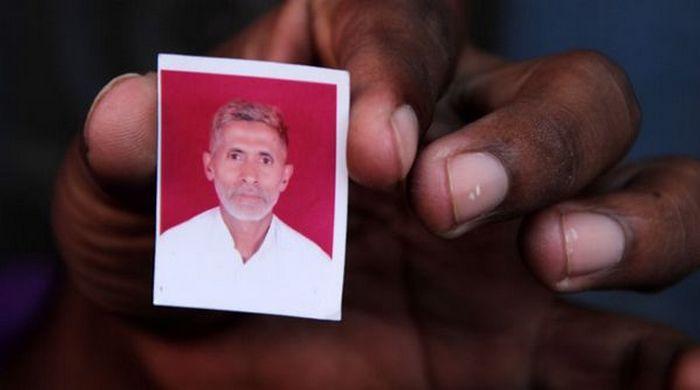 A l'image, Mohammad Akhlaq, victime d'une rumeur le décrivant comme un consommateur de boeuf, pratique interdite chez les hindous.