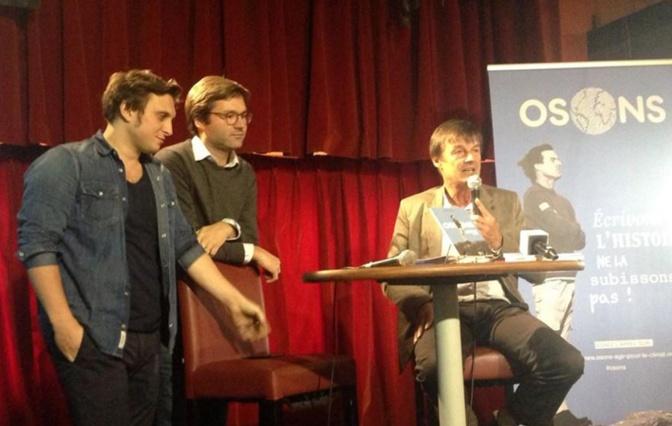 Nicolas Hulot a présenté, mercredi 7 octobre, le livret « Osons, plaidoyer d'un homme libre ».
