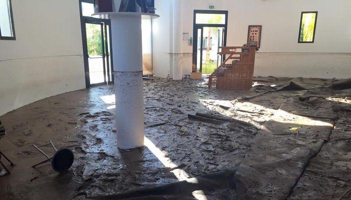 La mosquée du quartier de La Bocca, à Cannes, sinistrée par les eaux après les inondations qui ont secoué les Alpes-Maritimes et le Var dans la nuit du 3 au 4 octobre.