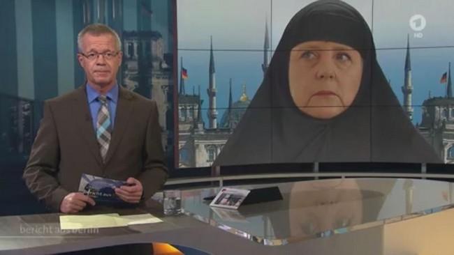 Angela Merkel voilée à la télévision, le tollé en Allemagne