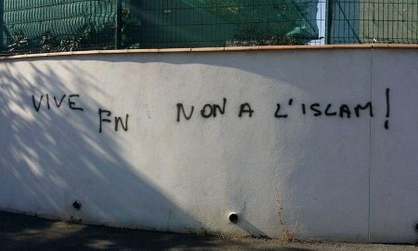 Des tags islamophobes découverts à Béziers jeudi 8 octobre.