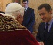 Nicolas Sarkozy avec Benoît XVI en décembre dernier à Rome
