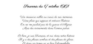 Souvenir du 17 octobre 1961