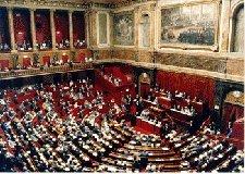 Députés et sénateurs réunis en Congrès à Versailles