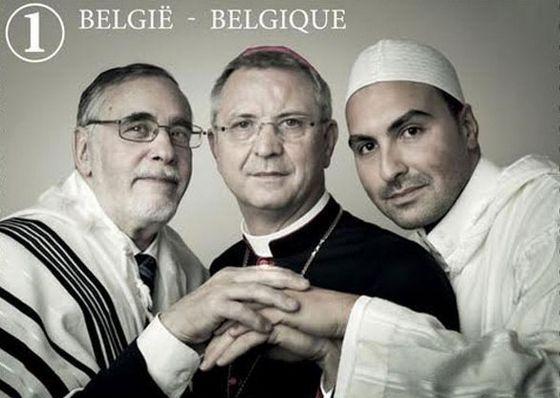 Un timbre-poste de la Bpost, qui sera disponible à la vente en octobre 2016, célèbre le dialogue interreligieux.