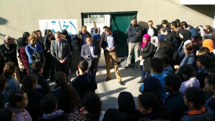 A Marseille, les élèves et les professeurs des écoles musulmane et catholique se sont retrouvés pour une minute de silence commune.