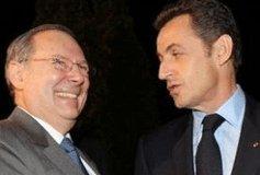 Le président du Crif M. Prasquier et Nicolas Sarkozy