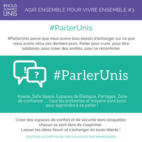 #NousSommesUnis : cinq fiches pour cinq actions à partager