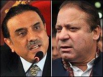 Asif Ali Zardari et Nawaz Sharif
