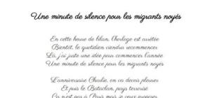 Une minute de silence pour les migrants noyés