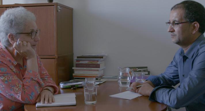 A Marseille, rencontre entre Colette Hamza, directrice adjointe du SNRM (ex-SRI), et l'imam Abdessalem Souiki dans « Chrétiens et musulmans, le dialogue en actes ».