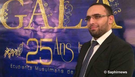 Anas Saghrouni est président des Étudiants musulmans de France (EMF) et membre de l'exécutif du Forum européen des organisations musulmanes de jeunes et d'étudiants (FEMYSO).