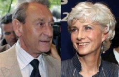 Bertrand Delanoë et Françoise de Panafieu, candidats à la mairie de Paris
