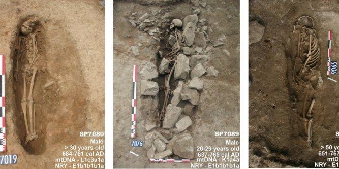 Les plus anciennes tombes musulmanes découvertes en France, qui datent entre les VIIe et le IXe siècle. © Revue Plus One