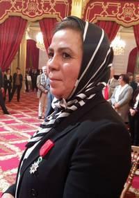 La Légion d'honneur décernée à Latifa Ibn Ziaten à l'Elysée