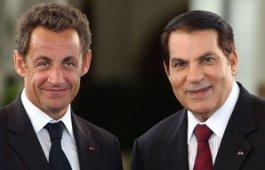 Nicolas Sarkozy et Zine el Abidine Ben Ali, lors de la visite du premier en Tunisie en 2007