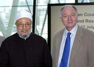 Ken Livingstone en compagnie du cheikh Al-Qaradawi