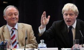 Ken Livingstone, à gauche, et Boris Johnson