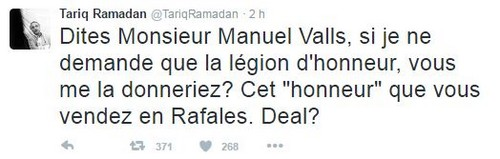 Manuel Valls refuse de voir Tariq Ramadan devenir Français